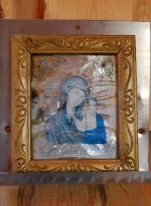 Освященная икона Божьей Матери снятая с креста Адамово